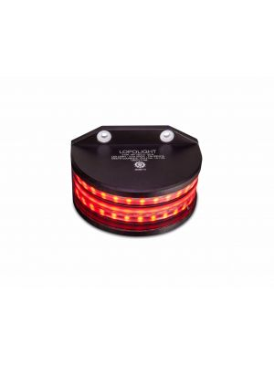 1*180° Red, double on back plate w/0,7 meter cable, black