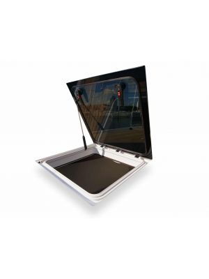 Compact Flush hatch w/Stayarm, CF2: size 1 (Cut out 260 x 260 / R 42,50)