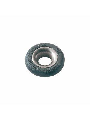 Boccola tonda in nylon Ø7mm H5mm con profiloacciaio inox