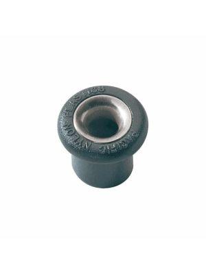 Boccola tonda in nylon Ø7mm H14mm con profiloacciaio inox