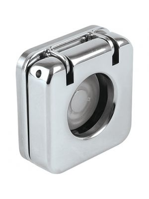 Push Button, E1, Stainless Cover, Hole