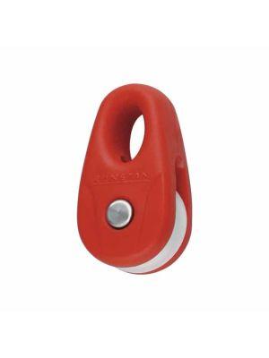 Micro bozzello KiteBlock con puleggia 16mm (2 pezzi) - Rosso